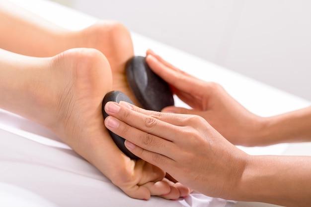 Hot stone fußmassage