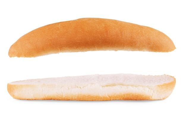 Hotdog brötchen. isoliert auf weißem hintergrund
