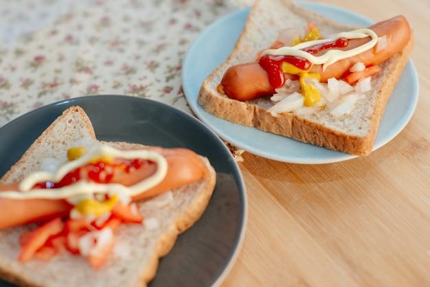 Hotdog-frühstück