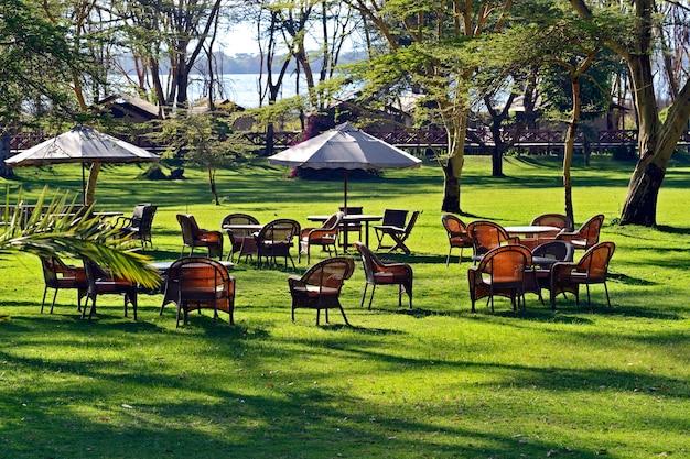 Hotel in den vororten des naivasha-sees. kenia. afrika.