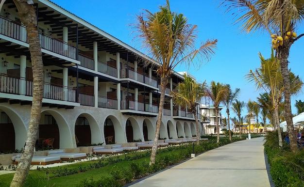 Hotelarchitektur in der dominikanischen republik