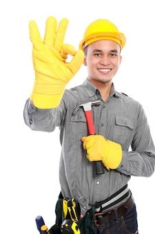 Hübscher arbeiter
