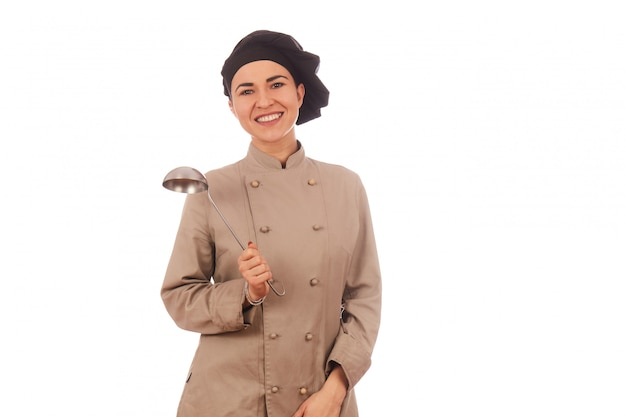 Hübscher weiblicher chef