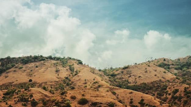 Hügel auf komodo island.