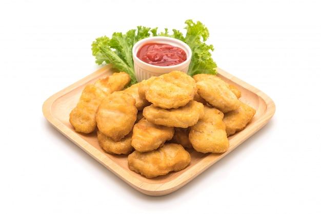 Hühnchen-nuggets mit sauce