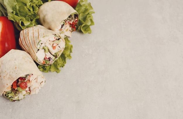 Hühner-wrap