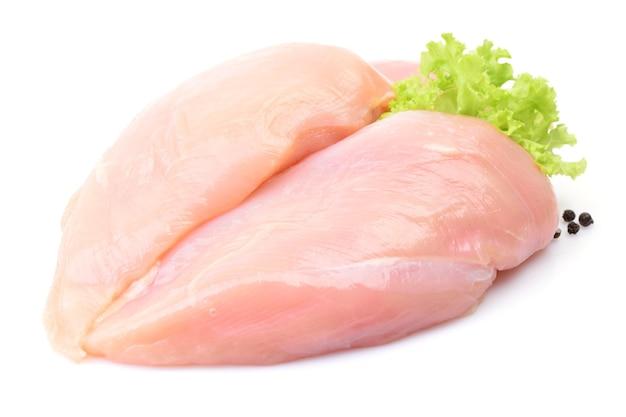 Hühnerfleisch mit kräutern isoliert