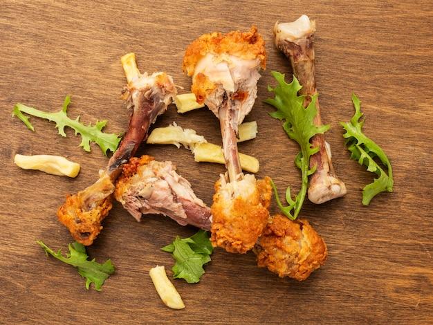 Hühnertrommelstöcke reste draufsicht