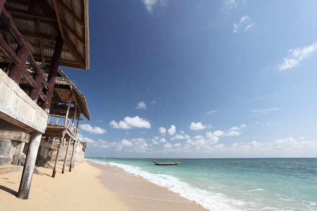 Hütte mit strand