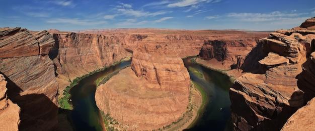 Hufeisen colorado fluss in arizona der vereinigten staaten