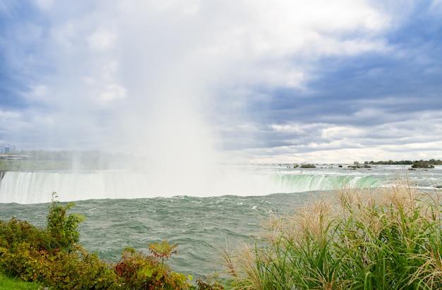 Hufeisenfälle von niagara falls in ontario, kanada