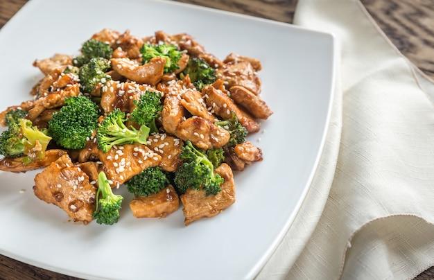 Huhn mit brokkoli