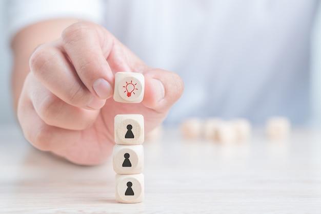 Human resource management.konzept der personalauswahl und -führung im team.