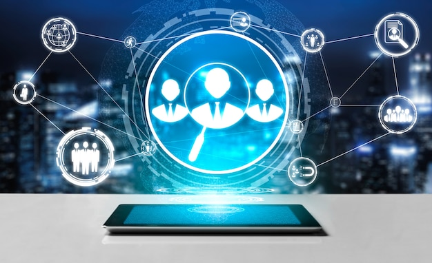 Human resources und people networking hintergrund