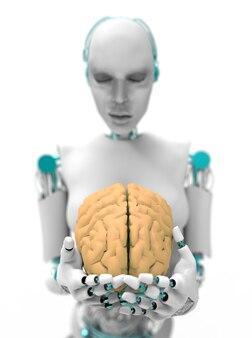 Humanoid mit gehirn