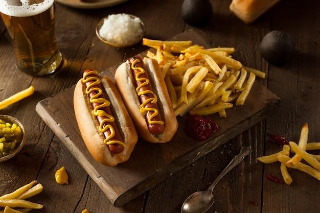 Hund mit senf und ketchup