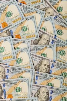 Hundert dollarscheine, amerikanisches bargeld. unternehmenskonzept.