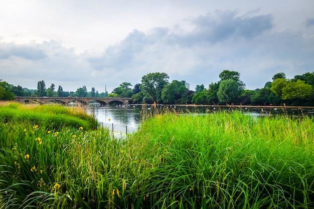 Hyde park landschaft, london, großbritannien