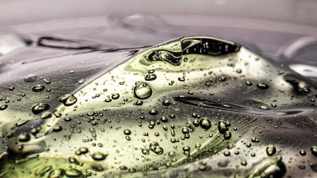 Hygiene antibakterielles gel mit blasen