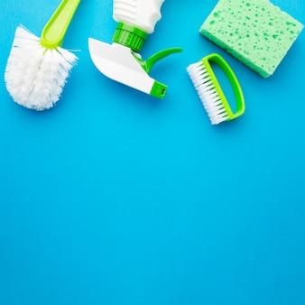 Hygiene-kit mit textfreiraum