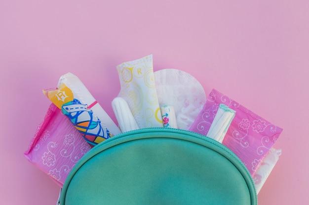 Hygieneartikel im toilettenset