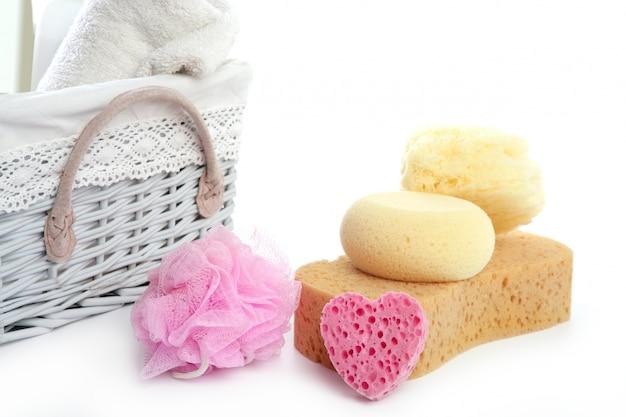 Hygieneartikel schwammgel shampoo handtücher