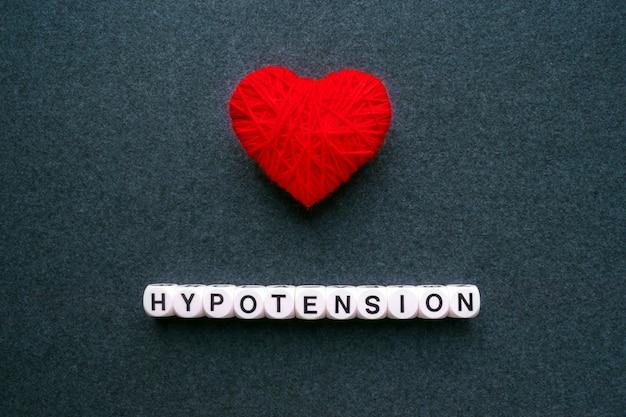 Hypotonie - niedriger blutdruck. worthypotonie