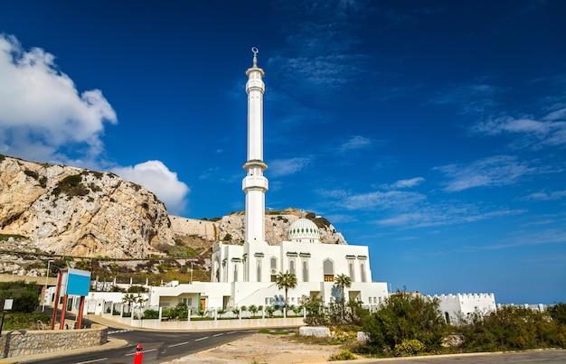 Ibrahim-al-ibrahim-moschee am europa point in gibraltar, einem britischen überseegebiet