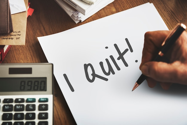 Ich beende das job-motivations-aspirations-konzept