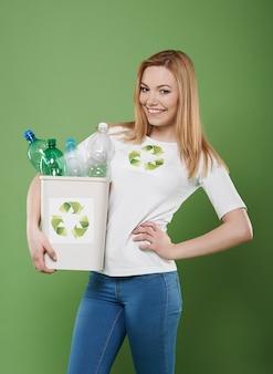 Ich bin ein perfekter aktivist des recyclings