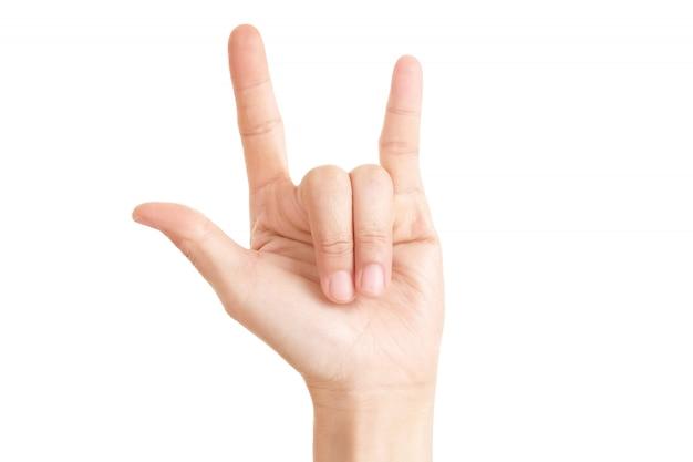 Ich liebe dich in frauenhänden zeichen.