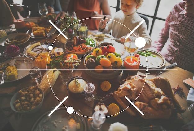 Icon thanksgiving-familien-dinner-fest