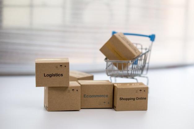 Idee des online-shopping und service