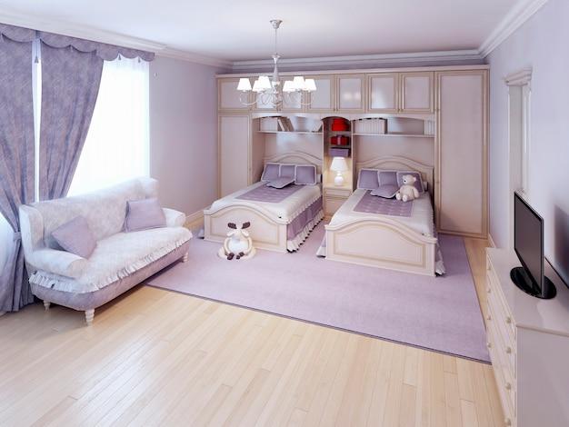 Idee eines neoklassizistischen schlafzimmers