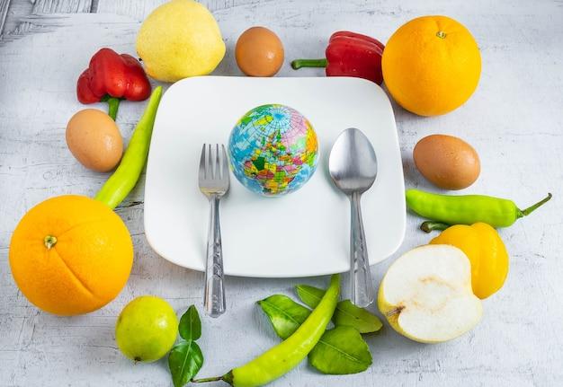 Idee welt food-konzept