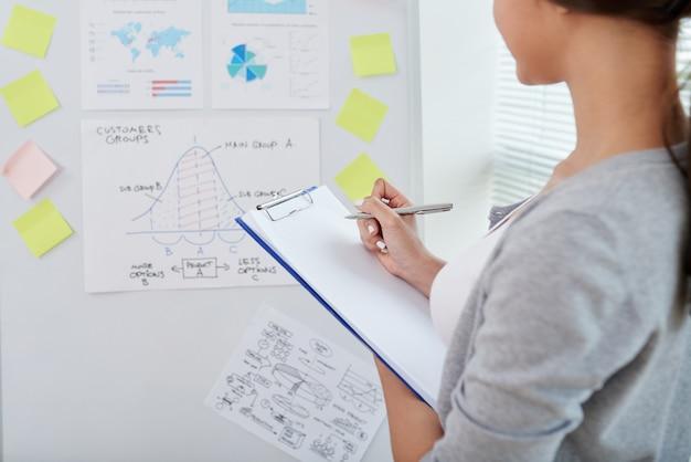 Ideen aufschreiben