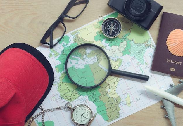 Ideen für die urlaubsplanung mit der notwendigen ausrüstung zum reisen.