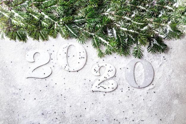 Ideen-guten rutsch ins neue jahr 2020. schöne feiertagskarte.