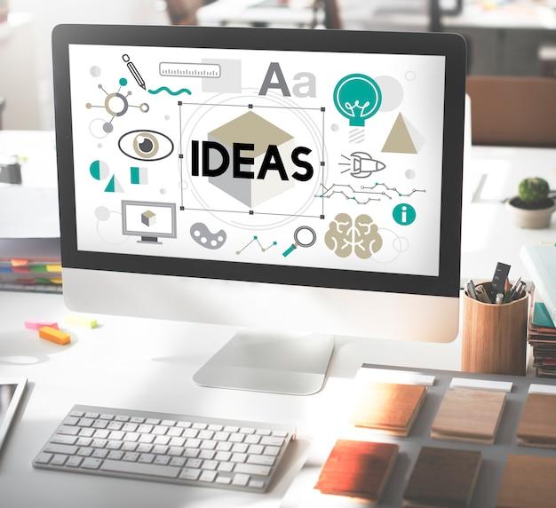 Ideen innovation grafische inspiration künstlerisches konzept
