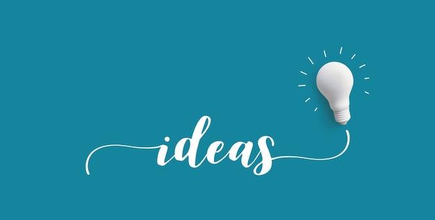 Ideen nachricht mit glühbirne