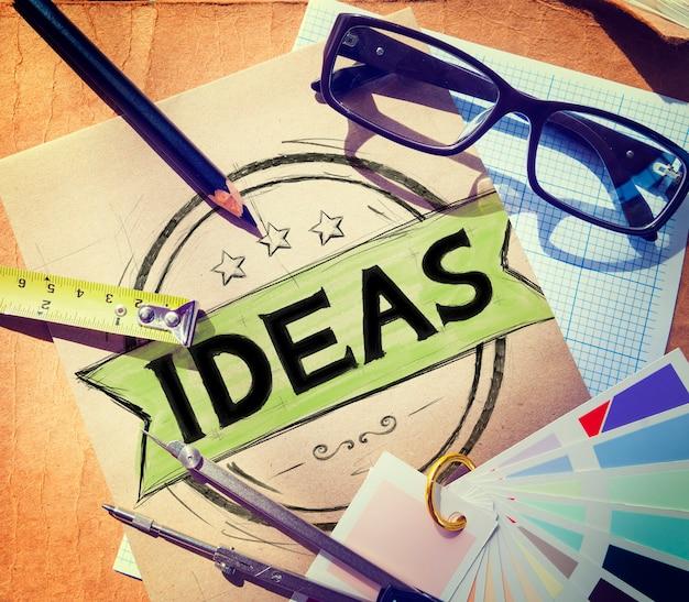 Ideen vision kreative mission lösungskonzept