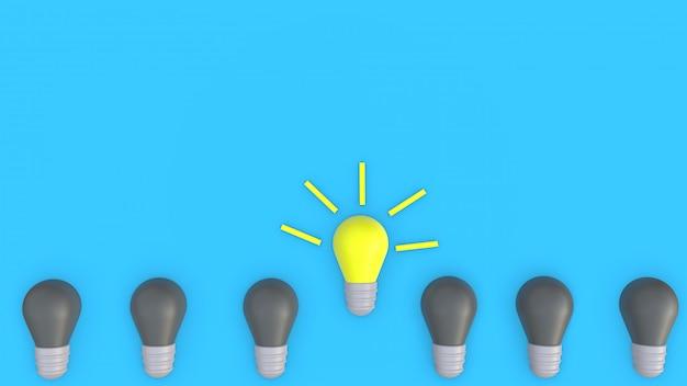 Ideeninnovationszeichen des gehirns und der lampe
