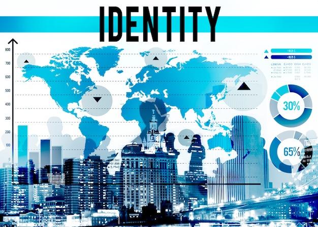 Identitäts-urheberrechtsbranding-produkt-marketing-konzept