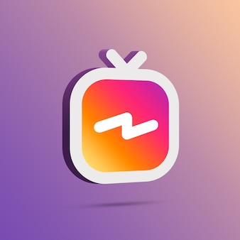 Igtv instagram icon 3d