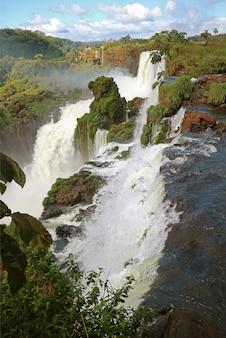 Iguazu falls an der argentinischen seite, provinz misiones in argentinien