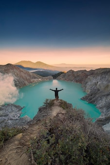 Ijen-krater, banyuwangi, ost-java, indonesien