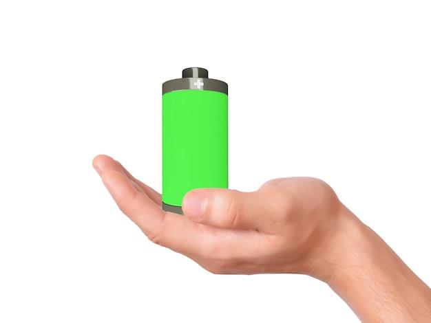 Ikone des handgriffs volle batterie 3d