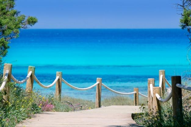 Illetas illetes beachn türkis formentera insel