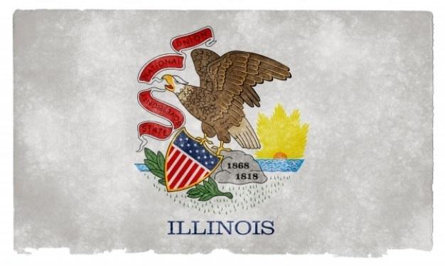 Illinois grunge flag