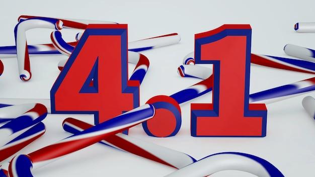 Illustration des abstrakten hintergrunds aprilscherztag mit der nummer vier eins